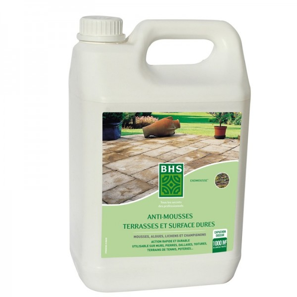 Anti mousse bhs terrasses 5l - Eliminer mousse terrasse ...