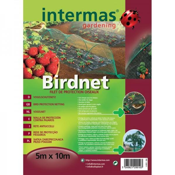 Filet pare oiseaux intermas 5x10m - Filet de jardin a oiseaux ...