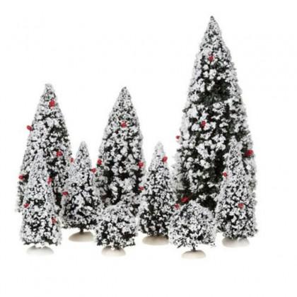 """Forêt de sapins miniatures """"lot de 9"""" - Luville"""