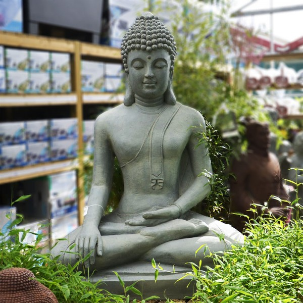Statue de bouddha assis d c garden 150cm - Statue bouddha exterieur pour jardin ...