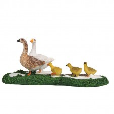 "Figurine ""Goose with Babies"" - LUVILLE"