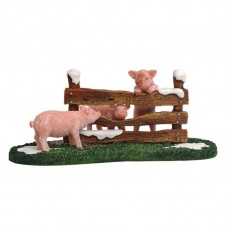 "Figurine ""Pigs at the Fench"" - LUVILLE"