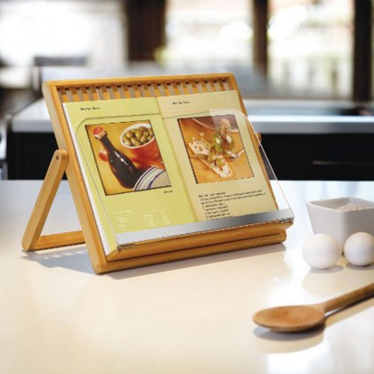 pupitre pour livre de cuisine umbra en bambou. Black Bedroom Furniture Sets. Home Design Ideas