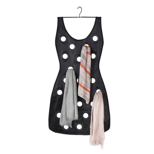 Porte foulards robe noire umbra for Decoration porte noire