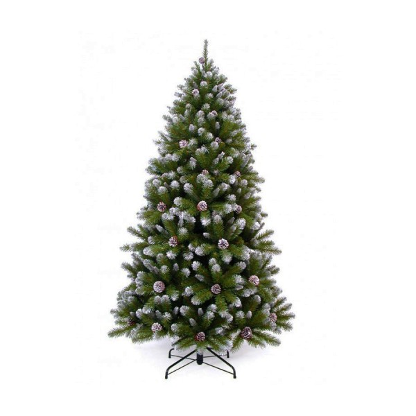sapin artificiel empress spruce frosted with cones 185cm. Black Bedroom Furniture Sets. Home Design Ideas