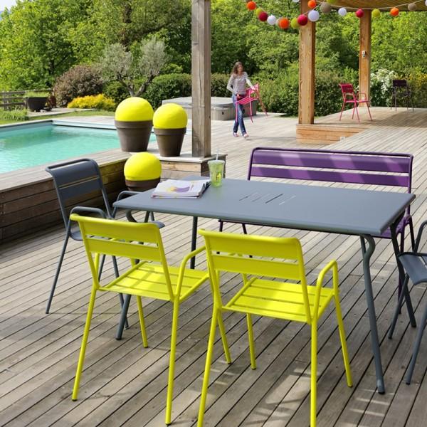Chaise bridge monceau fermob - Mobilier de jardin fermob ...