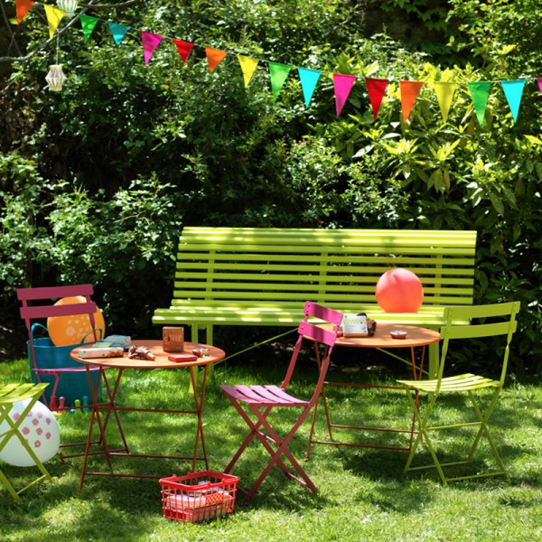 banc de jardin louisiane fermob. Black Bedroom Furniture Sets. Home Design Ideas
