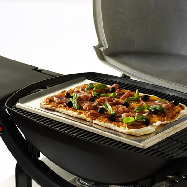 pierre pizza rectangle pour barbecue gaz weber