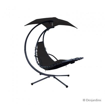 Hamac suspendu celesta noir d c garden - Chaise hamac suspendu ...