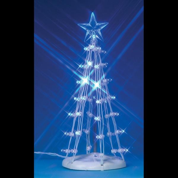 Sapin toil lumineux bleu 15 5 cm lemax - Etoile de sapin lumineuse ...
