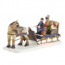"Figurine ""Horse Sledge"" - LUVILLE"
