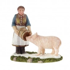 "Figurine ""Feeding the Pig"" - LUVILLE"