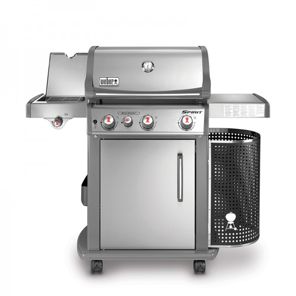 Barbecue gaz spirit premium s 330 gbs inox weber for Housse barbecue weber spirit
