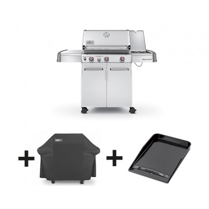 pack barbecue gaz genesis s 330 gbs inox housse plancha weber. Black Bedroom Furniture Sets. Home Design Ideas
