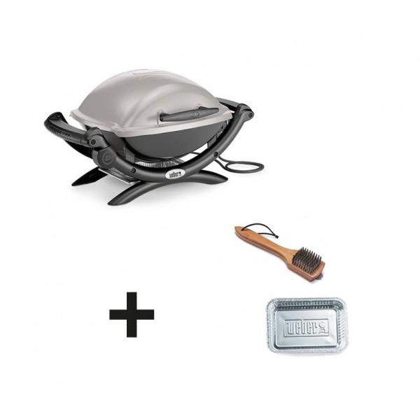 Barbecue Lectrique Weber Q1400 Gris Accessoires Offerts