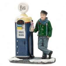 """Figurine """"At The Gas Pump"""" - LUVILLE"""