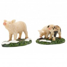 "Figurine ""Pig And Piglets"" X2 - LUVILLE"