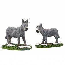 "Figurine ""Donkey And Foal"" X2 - LUVILLE"