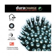"Guirlande lumineuse clignotante ""duraCHARGE"" 5 m - blanc froid - LUMINEO"