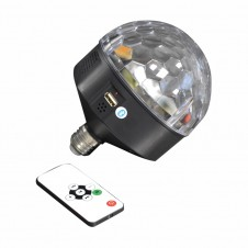Boule disco E27 LED - bluetooth - multicouleur - LUMINEO