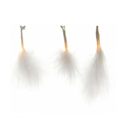 guirlande lumineuse plumes 3 m blanc chaud lumineo. Black Bedroom Furniture Sets. Home Design Ideas
