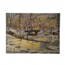 "Cadre lumineux ""New York"" - 40x60 cm - LUMINEO"