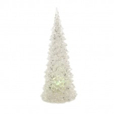 Sapin acrylique led - 23 cm - multicouleur - LUMINEO