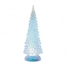 Sapin acrylique led - 32 cm - blanc froid - LUMINEO