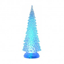 Sapin acrylique led - 21,5 cm - multicouleur - LUMINEO