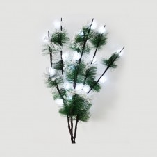 """Branche led """"fleurs blanches"""" - 100 cm - LUMINEO"""