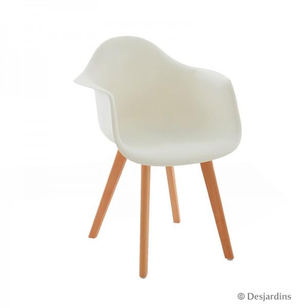 fauteuil scandinave blanc desjardins. Black Bedroom Furniture Sets. Home Design Ideas