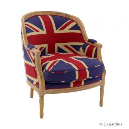 fauteuil large anglais desjardins. Black Bedroom Furniture Sets. Home Design Ideas