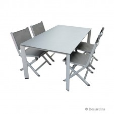 "Ensemble ""Loft"" 1 table + 4 chaises - KETTLER"
