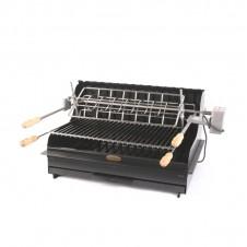 """Barbecue au charbon """"Isturitz"""" à poser ou encastrer - Acier/anthracite - LE MARQUIER"""