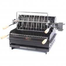 """Barbecue au charbon """"Méharin"""" à poser ou encastrer - Acier/anthracite - LE MARQUIER"""