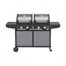 "Barbecue à gaz 2 brûleurs + plancha ""Combo & Grill"" - MASTERCHEF"