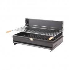 """Barbecue au charbon """"Iholdy"""" à poser ou encastrer - Acier/anthracite - LE MARQUIER"""