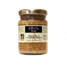 Moutarde Bio à l'ancienne au vinaigre balsamique