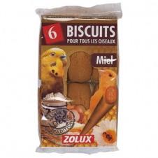 Biscuits miel Zolux pour oiseaux - X 6