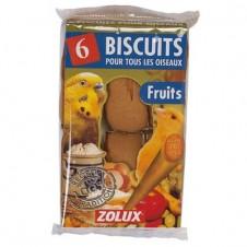 Biscuits fruits Zolux pour oiseaux - X 6