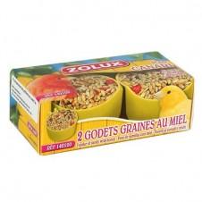 Godets de graines au miel Zolux pour canaris - X 2