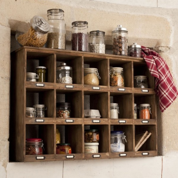 12 home cuisine des tag res et des paniers on pinterest shelf units - Etagere murale casier ...